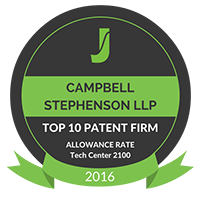 Top 10 Patent Firm by Juristat